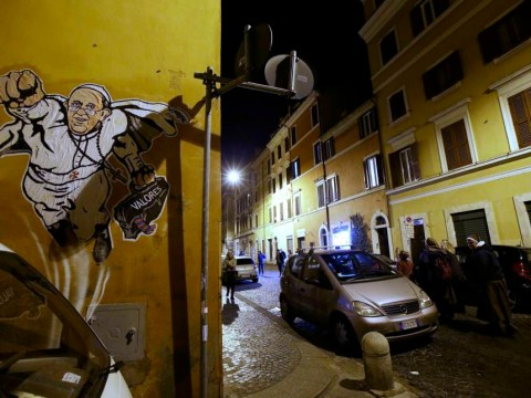 Further proof Pope Francis is in fact a superhero