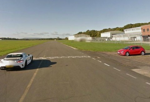 The Stig guides Google car around the Top Gear test track as it's added to Street View
