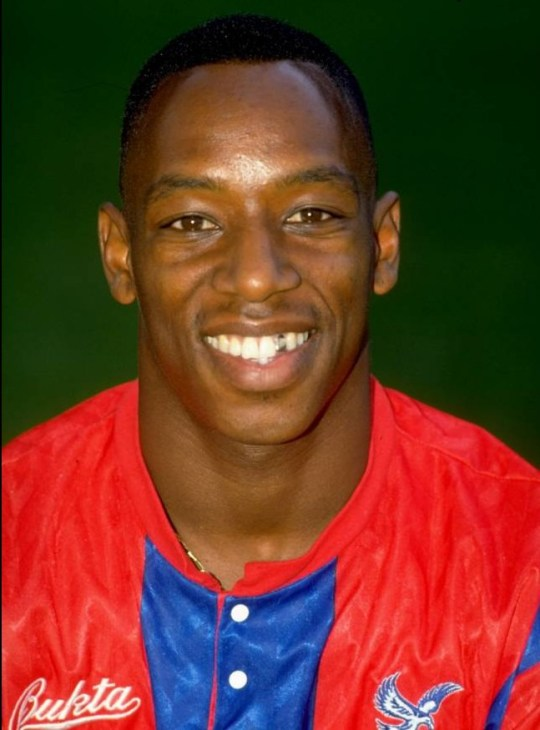 Jul 1991:  Portrait of Ian Wright of Crystal Palace during a photo-call held at Selhurst Park in London, England.  Mandatory Credit: Allsport UK /Allsport