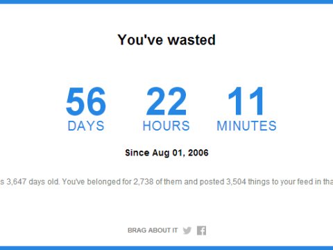 Find out how much time you've spent/wasted on Facebook in the last ten years