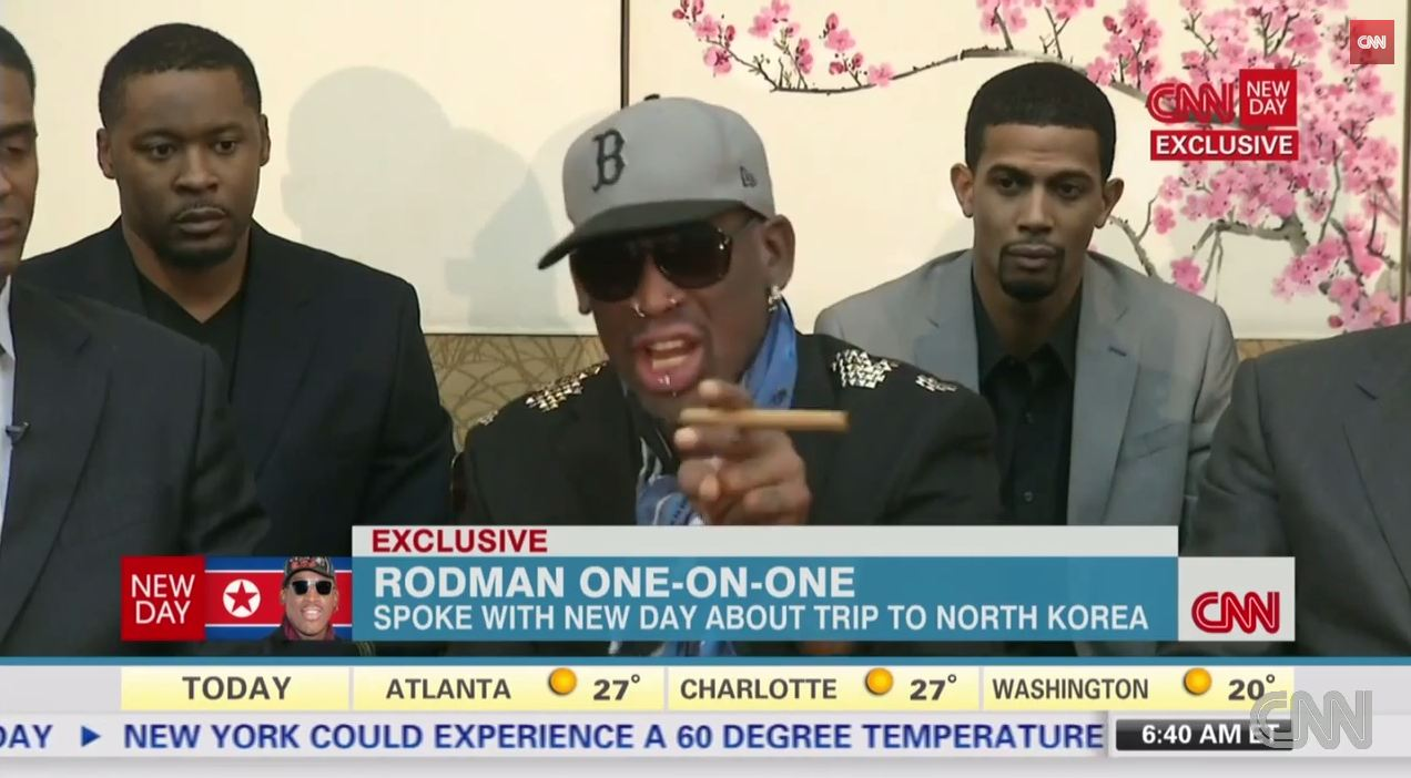 Video: Angry Dennis Rodman defends North Korea trip in heated CNN interview