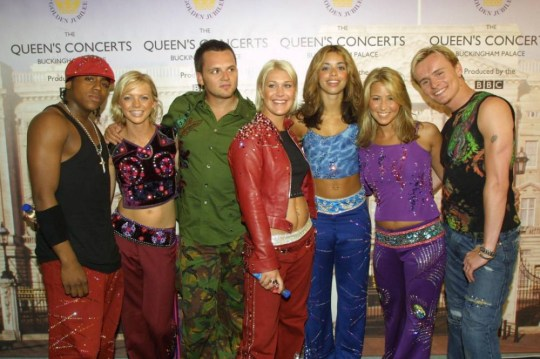 Library filer of S Club 7 backstage in the gardens of Buckingham Palace, June 3, 2002. Pop group S Club are splitting up, the band announced live on stage, Monday April 21, 2003. During a concert at London s Docklands Arena, the six remaining members of the band that used to be known as S Club 7, said they would part ways at the end of May. There have been persistent rumours of the band splitting up since spin-off band S Club Juniors were formed in 2001.SHOWBIZ S_Club 1... See PA story SHOWBIZ S Club. PA Photo: Peter Jordan ...A...LONDON...UK