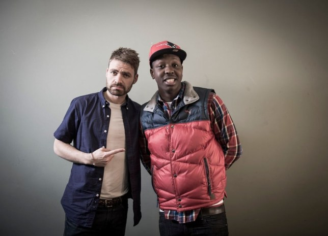 of Michael Sani with Jamal Edwards of SBTV (Picture: Bite The Ballot)