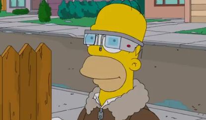 The Simpsons get – and relentlessly mock – Google Glass
