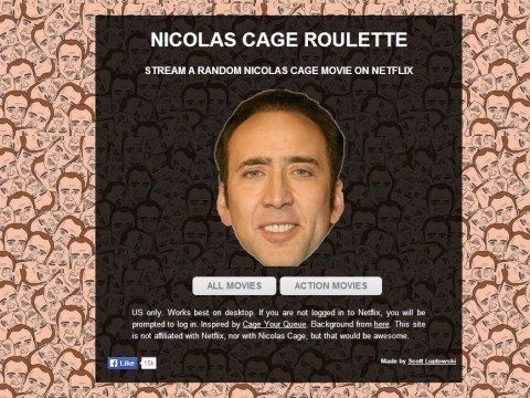 Nicolas Cage Netflix roulette will save you much scrolling
