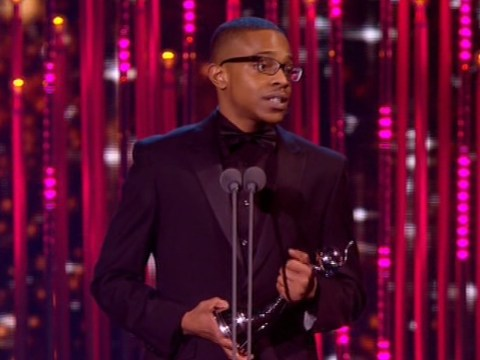 National Television Awards 2014: Danny Dyer teases crowd as he hands Khali Best Newcomer gong