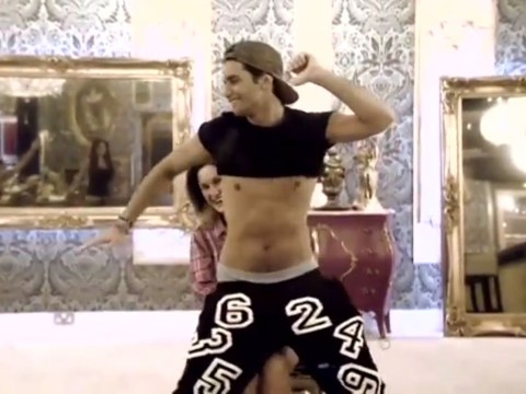 Celebrity Big Brother 2014: Watch Ollie Locke gyrate against Sam Faiers as he treats her to a saucy lap dance in hilarious video