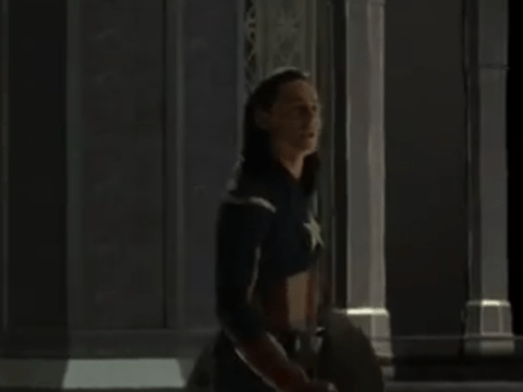Deleted Thor: The Dark World scene features Tom Hiddleston dressed as Captain America