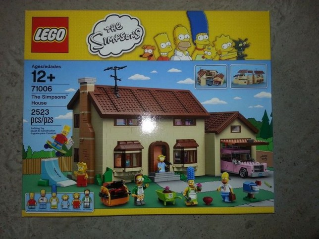 Simpsons Lego set