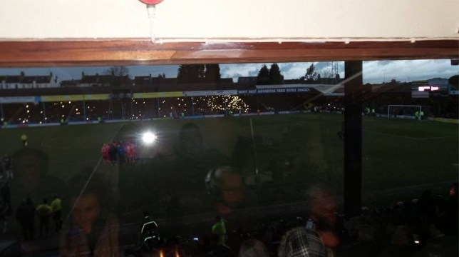 Southend fans tried to light up Roots Hall with their phones (Picture: Chris Cooper/Sky Sports)