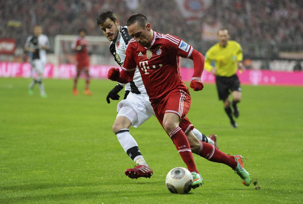 Arsenal handed Franck Ribery injury boost after Bayern Munich ace is ruled out of Champions League first-leg
