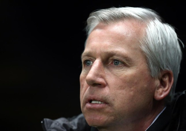 Newcastle United's manager Alan Pardew looks on ahead of their English Premier League soccer match against Tottenham Hotspur at St James' Park, Newcastle, England, Wednesday, Feb. 12, 2014. (AP Photo/Scott Heppell) AP Photo/Scott Heppell