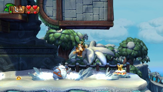 Donkey Kong Country: Tropical Freeze (Wii U) – the bad guys are viking animals, for some reason