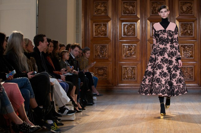 A model walks the runway at the Emilia Wickstead show (Picture: Getty)
