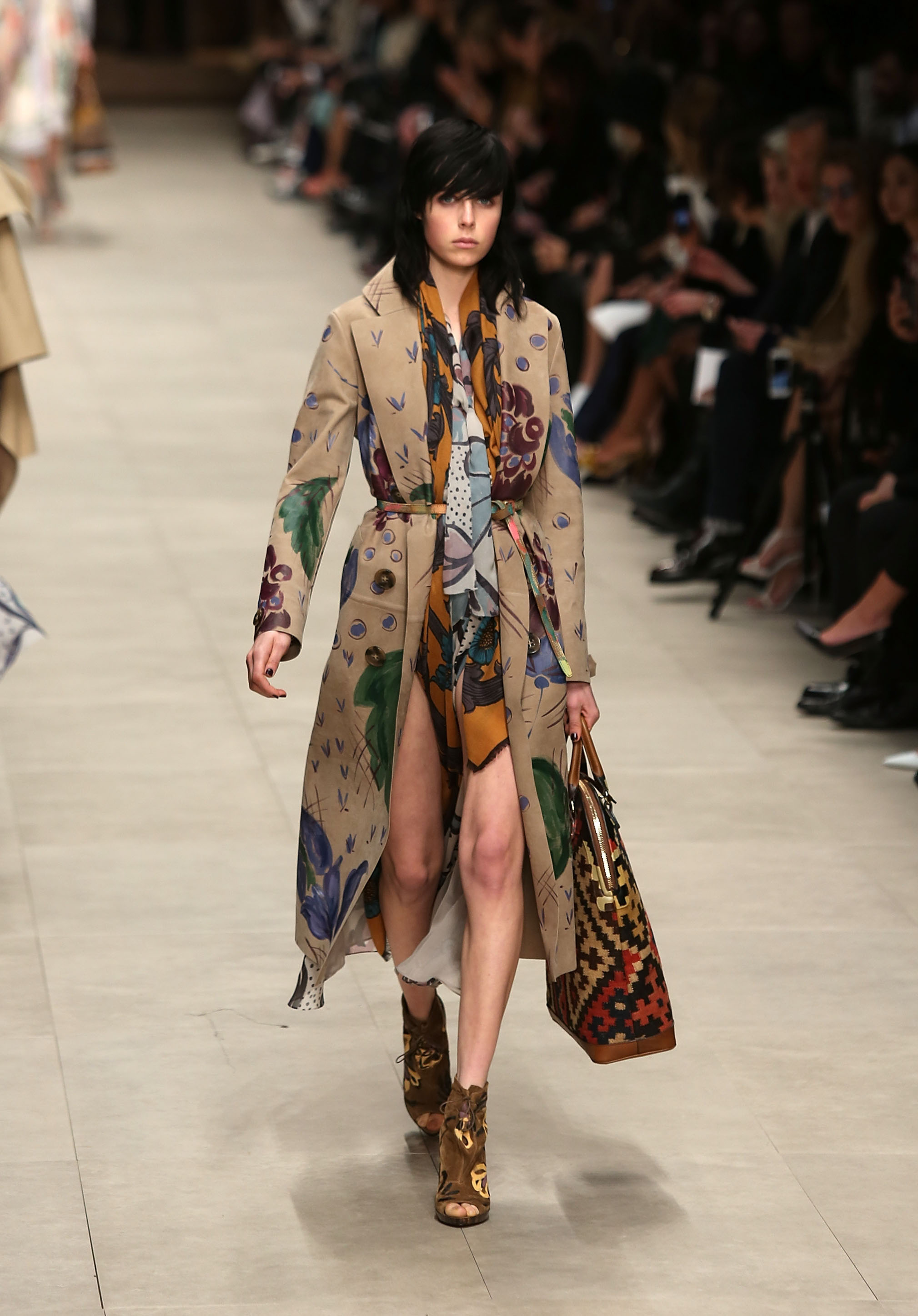 a54ae9a9ed14 Harry Styles attends the Burberry Prorsum London Fashion Week 2014 ...
