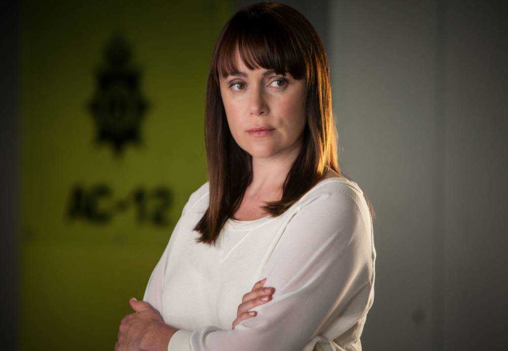 Keeley Hawes is behind bars as DI Lindsay Denton in Line Of Duty (Picture: BBC/Steffan Hill)