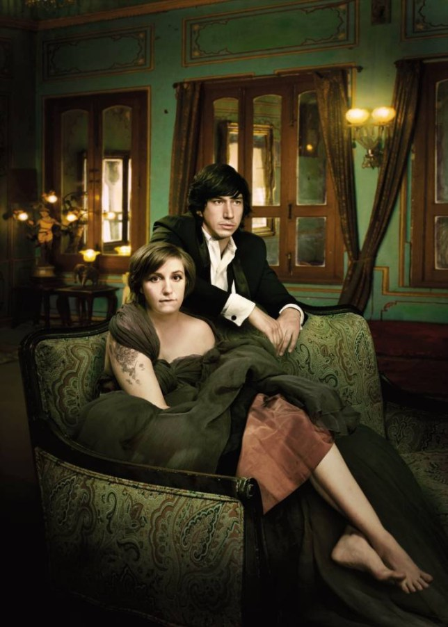 .Adam Driver as Adam Sackler and Lena Dunham as Hannah Horvath in Girls (Picture: HBO)
