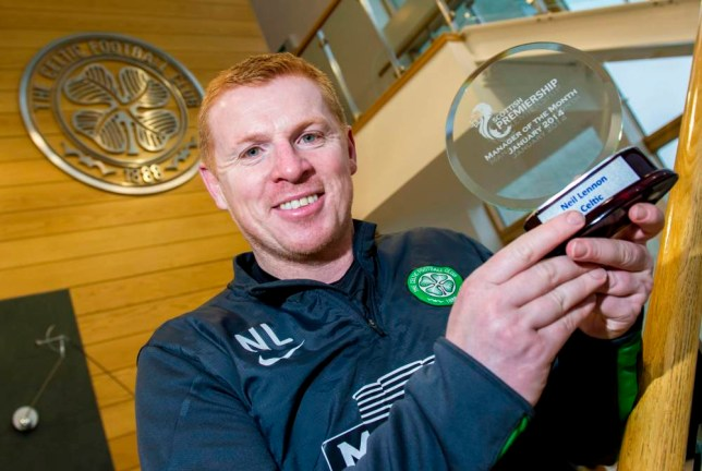 13/02/14 LENNOXTOWN Celtic manager Neil Lennon is all smiles after being named as the SPFL Premiership Manager of the Month.