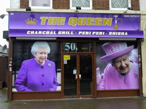 Fancy a kebab with The Queen? Monarchist takeaway shop owner's ultimate tribute to Elizabeth II