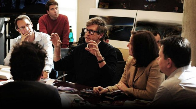 Kathleen Kennedy and JJ Abrams have a production meeting (Picture: Lucasfilm)