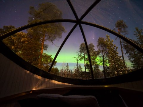 The Northern Lights, Finland: Watch aurora borealis from a bubble bed in the snow