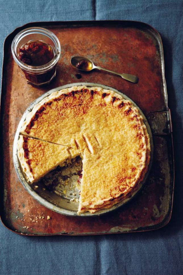 Sour cream raisin pie by Jenny Linford (Picture: Clare Winfield)