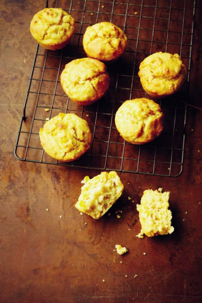 Jenny Linford's sweetcorn muffins (Picture: Clare Winfield)
