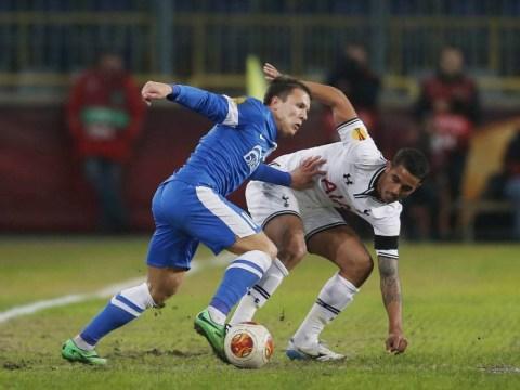 Liverpool target Yevhen Konoplyanka scores against Tottenham