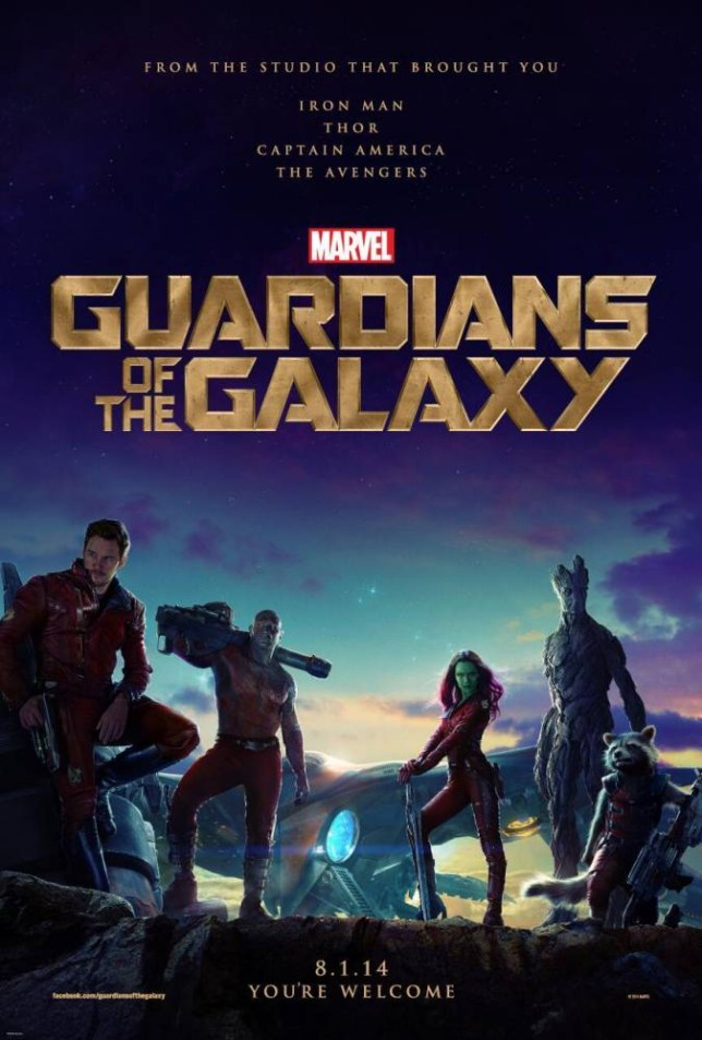 Hooked on a feeling: The first poster for Guardians of the Galaxy (Picture: Marvel)