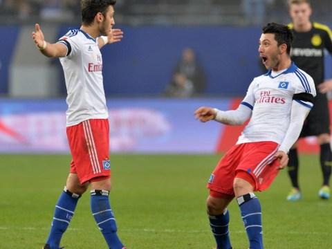 Watch Hakan Calhanoglu's 50-yard free-kick for Hamburg sink Borussia Dortmund