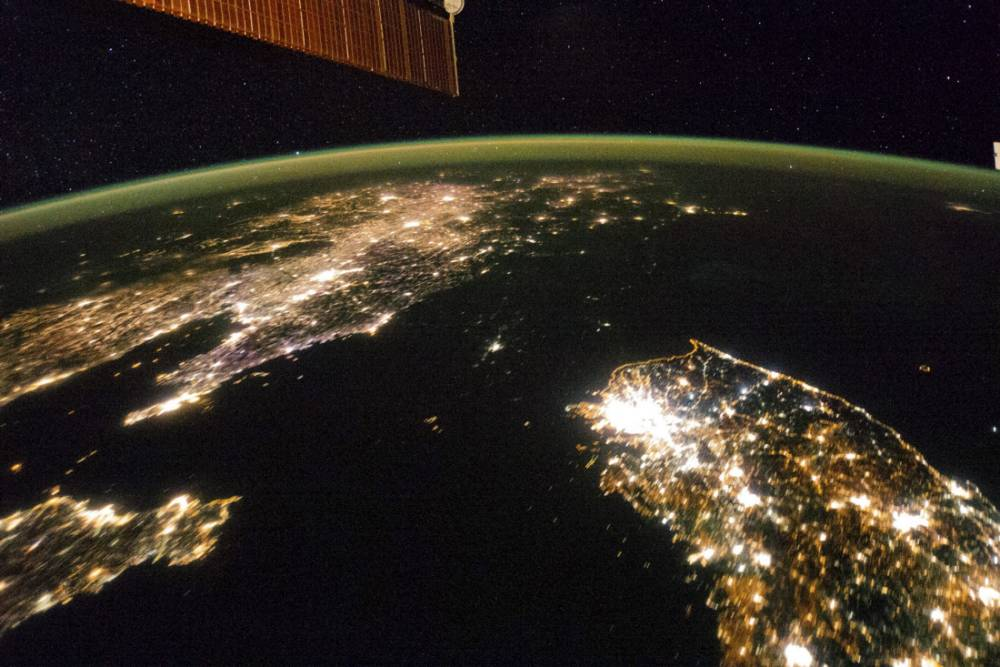 Nasa image shows North Korea completely in the dark