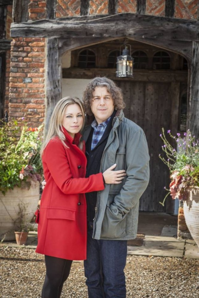 Sarah Alexander and Alan Davies in Jonathan Creek (Picture: John Rogers)