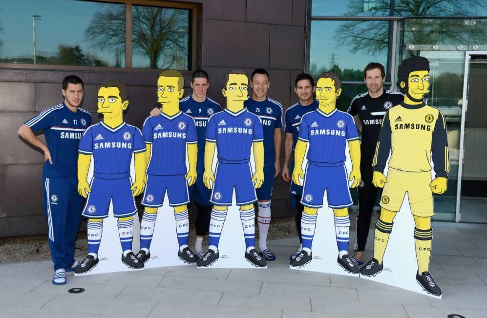 Chelsea stars immortalised as Simpsons characters as part of new deal – but where's 'Sideshow Bob' David Luiz?