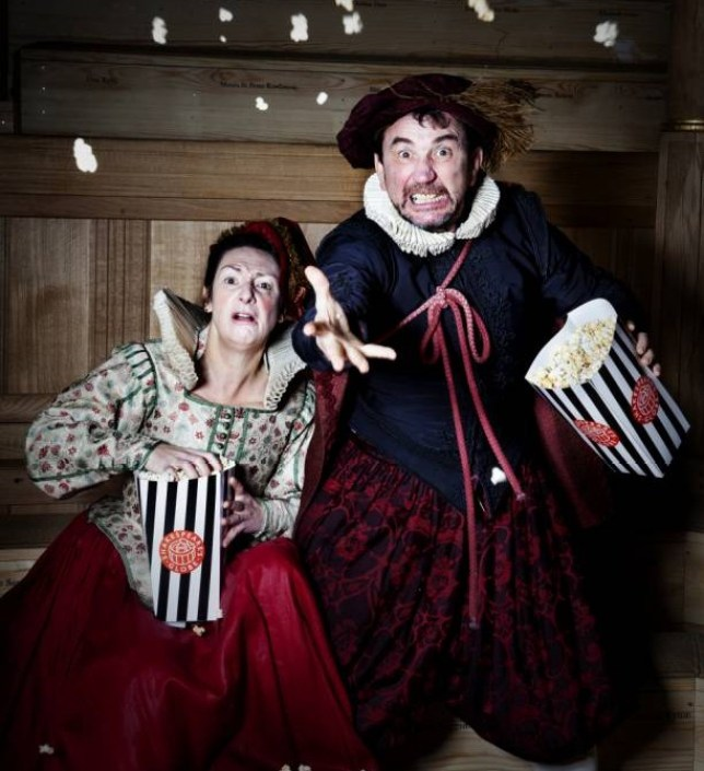 Phil Daniels and Pauline McLynn as Citizen and Citizen's wife in The Knight of the Burning Pestle (Picture: Bronwen Sharp)