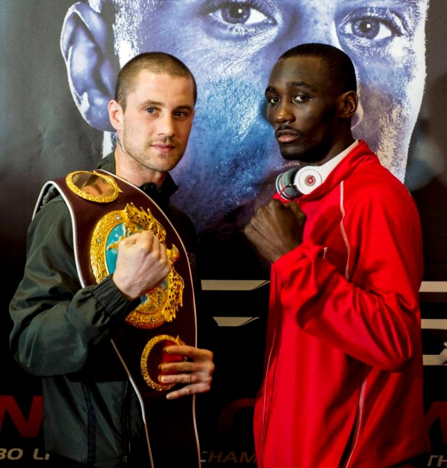 27/02/14   GLASGOW Ricky Burns (left) and Terence Crawford face off at their final press conference before their WBO Lightweight title fight