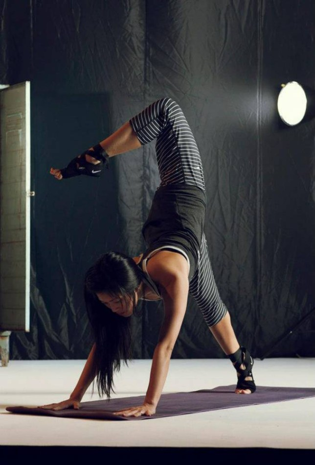 Leah Kim abandoned her office job to teach yoga and is now Nike's ambassador for yoga (Picture: supplied)