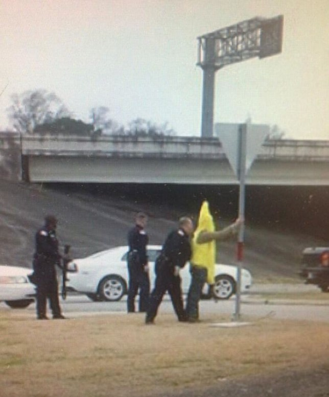 Banana costume man, AK-47