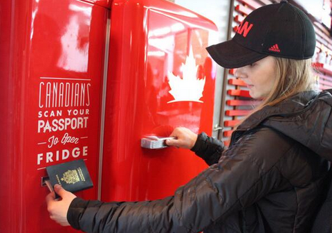 Sochi 2014 Winter Olympics: Fancy a beer from Canada House? You'll need a Canadian passport to open the fridge
