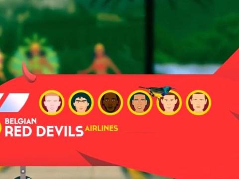 Premier League stars get cartoon treatment at Belgium World Cup kit launch -Video