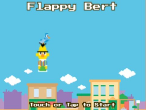 Sesame Street spoofs Flappy Bird with Flappy Bert game