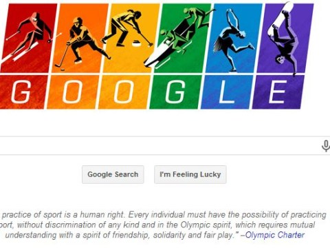 Google Doodle goes rainbow for gay rights ahead of Sochi Winter Olympics