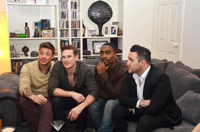 Blue: Duncan James, Lee Ryan, Antony Costa and Simon Webbe