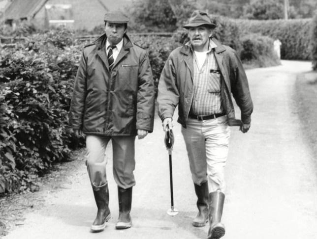 Cast of Radio programme, The Archers. Charles Collingwood and Norman Jones. . REXSCANPIX.   .. Norman Jones died 23/04/2013 . REXSCANPIX.