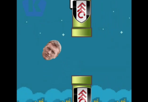 New game? Manchester United boss David Moyes becomes Flappy Bird