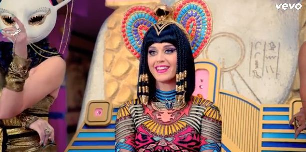 Katy Perry's new video for Dark Horse has been criticised by religious groups (Picture: Vevo)
