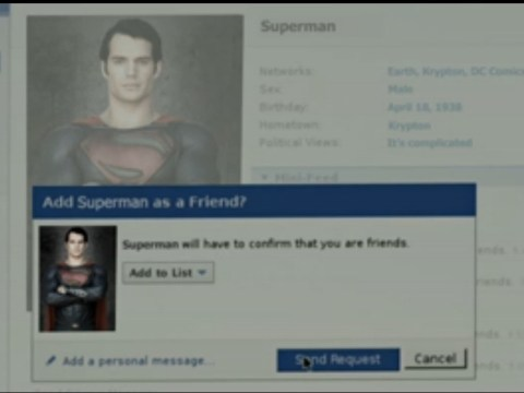 Jesse Eisenberg's Lex Luthor sends Superman a Facebook friend request in spoof video