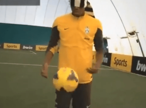 Paul Pogba shows exactly why Manchester City want him with blindfolded skills