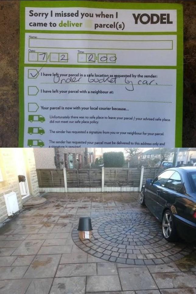 Peter Preston: Yodel leaves parcel under plant pot
