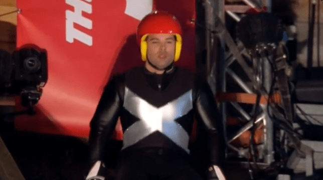 Joe McElderry prepares for his final jump (Picture: Channel 4)