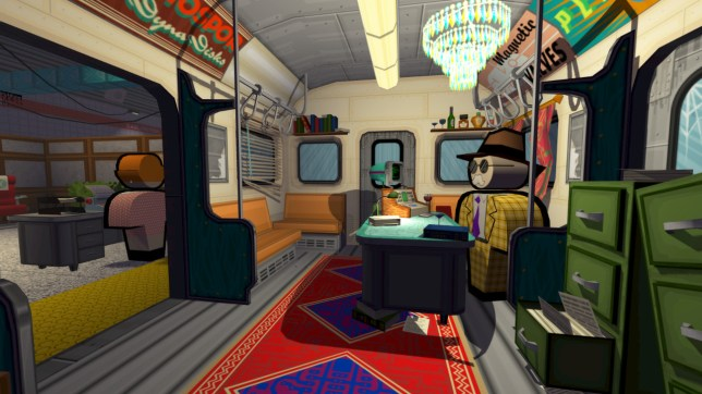 Jazzpunk (PC) – your boss has his office in a tube car, for some reason